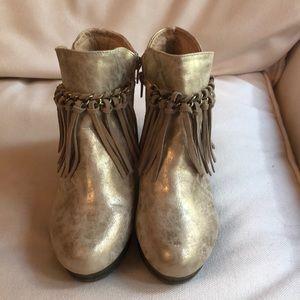 Volatile kids gold booties